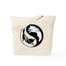 Yin-Yang Huskies Tote Bag