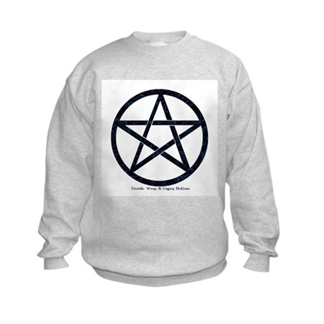 Black Satin Pentacle Kids Sweatshirt