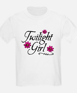 Twilight Girl Flowers T-Shirt