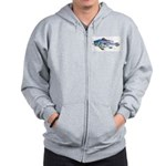 Black Sea Bass Zip Hoodie
