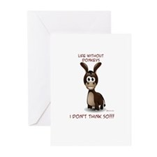Life without donkeys Greeting Cards (Pk of 10)