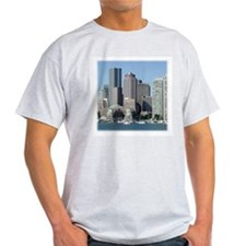 Boston Skyline Ash Grey T-Shirt