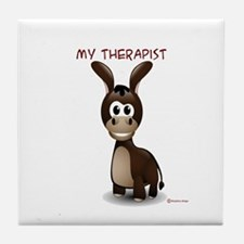 My Therapist Tile Coaster