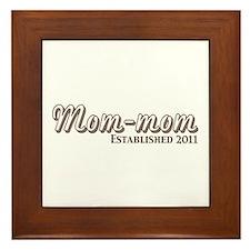Mom mom Est 2011 Framed Tile