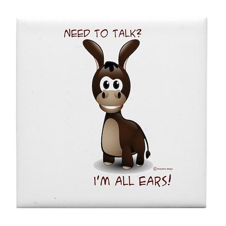 I'm All Ears Tile Coaster