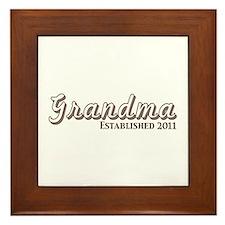 Grandma Est 2011 Framed Tile