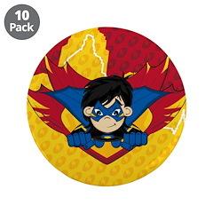 "Cute Masked Superhero 3.5"" Button (10 pack)"