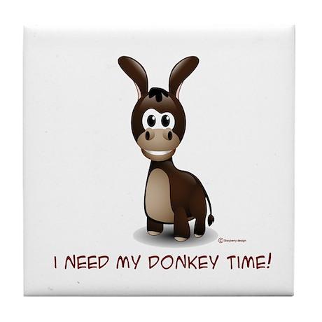 Donkey Time Tile Coaster