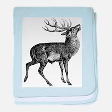 Red Deer Stag baby blanket