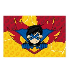 Cute Masked Superhero Postcards (Package of 8)
