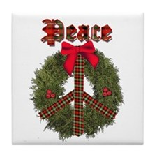 Christmas Peace Tile Coaster