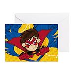 Cute Masked Superhero Greeting Cards (Pk of 20)