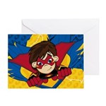 Cute Masked Superhero Greeting Card