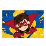 Cute Masked Superhero Postcards (Package of 8)