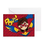 Cute Masked Superhero Greeting Cards (Pk of 10)