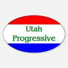 Utah Progressive Oval Decal