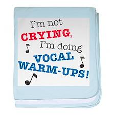 Vocal Warm-ups baby blanket