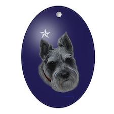 Mini Schnauzer Xmas Ornament (Oval)