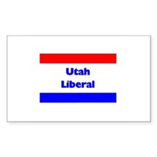 Utah Liberal Rectangle Decal