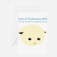 Rule of Cuteness 44 Greeting Card