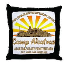 CAMP ALCATRAZ Throw Pillow