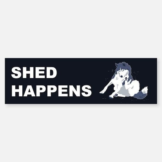 Shed Happens Bumper Bumper Bumper Sticker