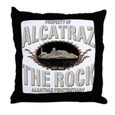 "ALCATRAZ ""THE ROCK"" Throw Pillow"