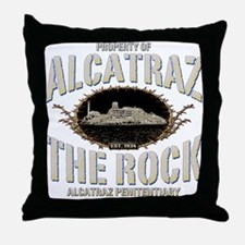"ALCATRAZ ""THE ROCK"" Throw Pillow"
