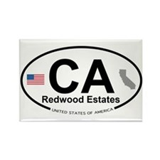 Redwood Estates Rectangle Magnet