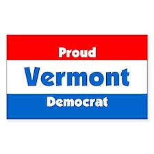 Proud Vermont Democrat Rectangle Decal