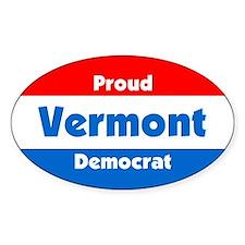 Proud Vermont Democrat Oval Decal