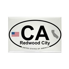 Redwood City Rectangle Magnet