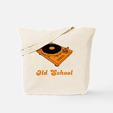 Old School Turntable Tote Bag