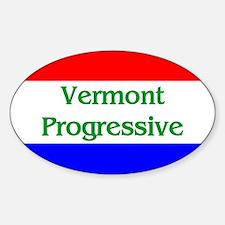 Vermont Progressive Oval Decal