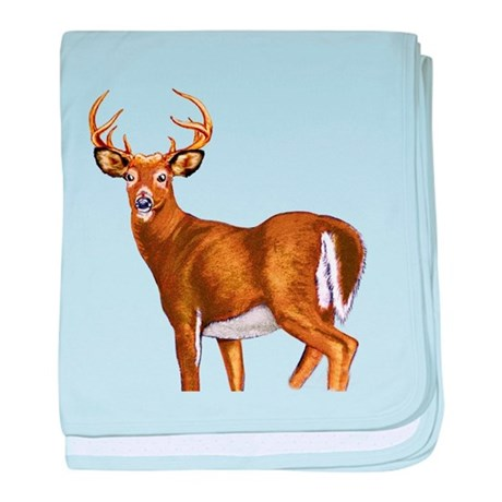 American White Tail Deer Buck baby blanket
