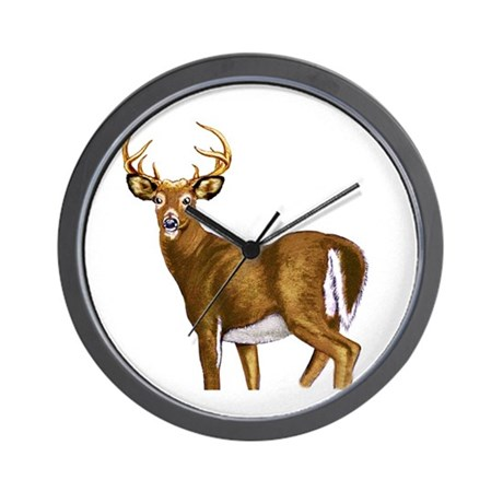 American White Tail Deer Buck Wall Clock