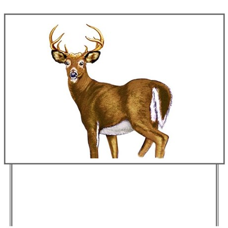 American White Tail Deer Buck Yard Sign