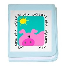 Pig Says Oink baby blanket