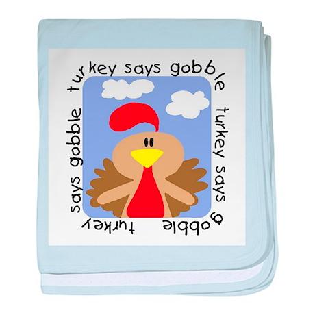 Turkey Says Gobble baby blanket