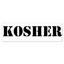 Kosher Bumper Sticker