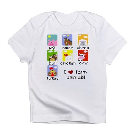 I Love Farm Animals Infant T-Shirt
