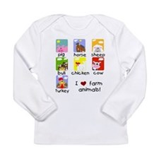 I Love Farm Animals Long Sleeve Infant T-Shirt