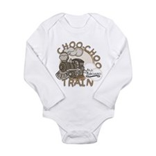 All Aboard Train Long Sleeve Infant Bodysuit