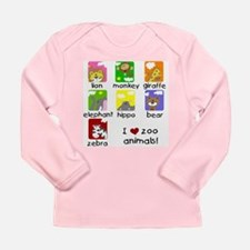 I Love Zoo Animals Long Sleeve Infant T-Shirt