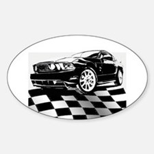 2011 Mustang Flag Decal