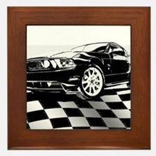 2011 Mustang Flag Framed Tile