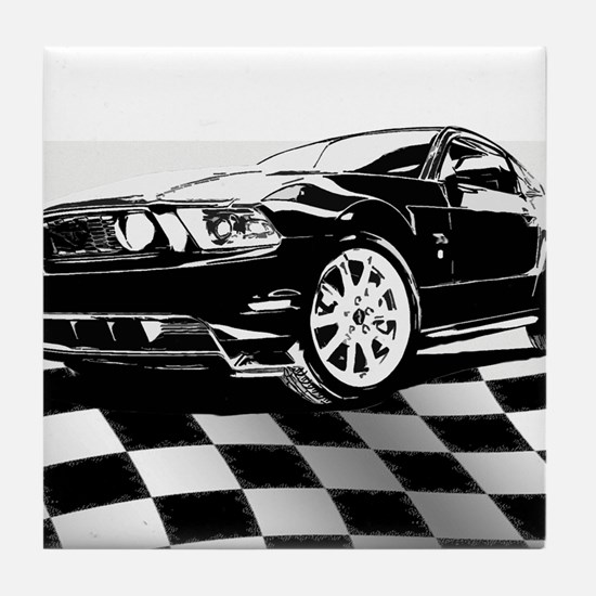 2011 Mustang Flag Tile Coaster