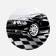 2011 Mustang Flag Ornament (Round)