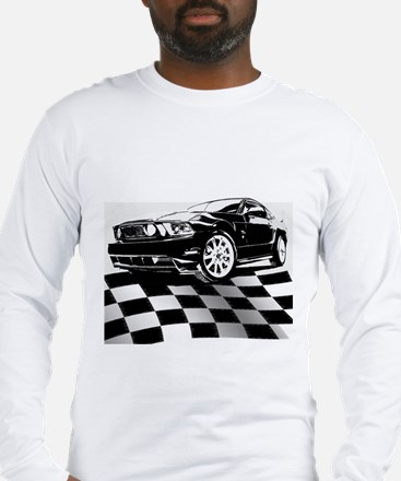 2011 Mustang Flag Long Sleeve T-Shirt