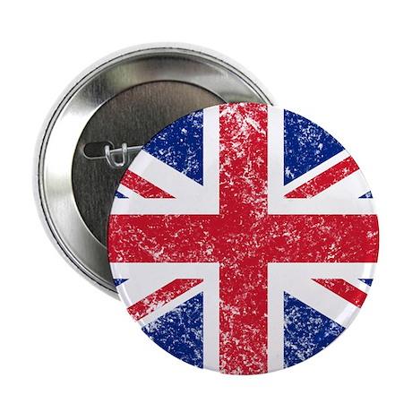 """British Flag 2.25"""" Button"""
